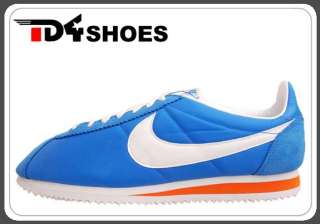 Nike Classic Cortez Nylon Italy Blue White Orange 2012 Mens Shoes