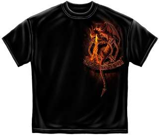Firefighter Fireman Fear No Evil Fire Dragon Public Service T Shirt