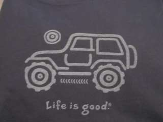NWT Life Is Good NATIVE JEEP OFF ROAD on True Blue for MEN