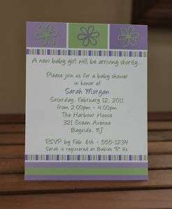 50 Lavender Baby Girl Shower Invitations Personalized