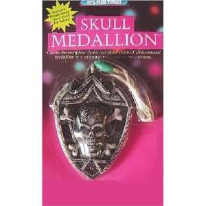 Skull and Cross Bones Medallion Pirate Vampire Grim Reaper