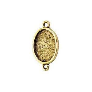 Nunn Design Antique Gold (plated) Mini Oval Frame Link