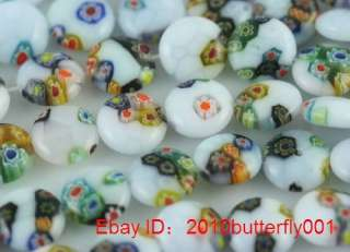 Free ship 10pcs mixed color glass round spacers 12mm