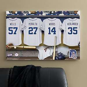 Personalized MLB Baseball Locker Room Canvas   Detroit