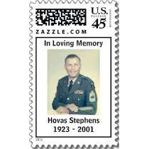 Dad in Uniform, In Loving Memory, Hovas Stephen Postage Stamps by