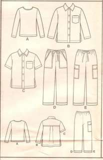 New Look 6023 Pattern Girls Boys Shirt Top Pants Size 4 5 6 8 9 Uncut