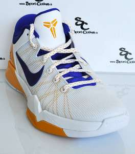 Nike Zoom Kobe VII 7 Lakers Home low mens basketball shoes NEW white