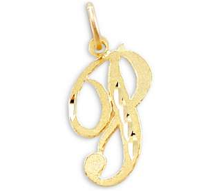 14k Yellow Gold Initial Letter P Pendant
