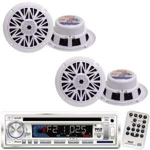 Pyle Marine Radio Receiver and Speaker Package   PLCD36MRW