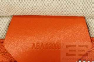Goyard Orange Chevron Canvas Fidji Hobo Handbag