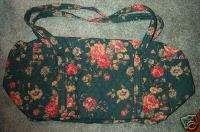 Vera Bradley Retired Rare Greenbriar Large Duffel Bag