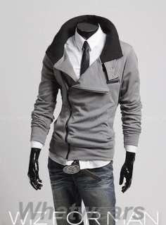 Casual Slim Fit Dress Jacket 4 Color 4 Size M L XL XXL Grey Z39