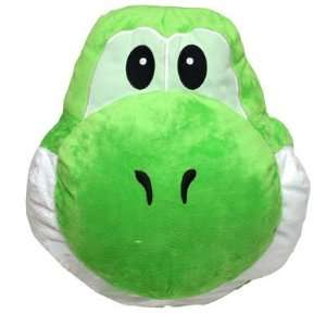 Super Mario Brothers  Yoshi Face Cushion   14 (Green