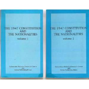 [Myanmar] Constitution and the Nationalities (2 volume Set) Books