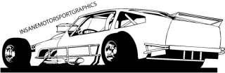 mod / IMCA Modified Race Car Large Vinyl Graphic