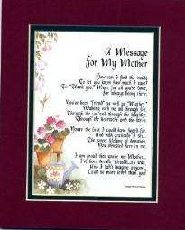MESSAGE TO MY MOTHER   MOTHERS DAY GIFT FOR MOM LOVE
