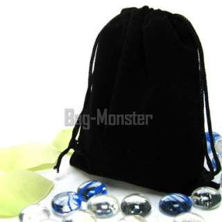 20 Black Velvet Sq Wedding Pouches Favor Jewelry Bags