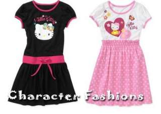 HELLO KITTY T Shirt DRESS Size 4 5 6 6X 7 8 10 12 Outfit Skirt