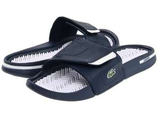 Lacoste Molitor Sandals Dark Blue & White NIB SZ 9 13 NWT