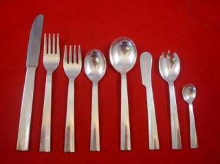 HARRY OSAKI MODERNISM STERLING SILVER FLATWARE SET
