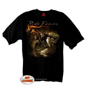 Hot Leathers Black Large Headless Horseman T Shirt: Automotive