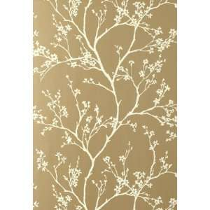Twiggy Champagne by F Schumacher Wallpaper