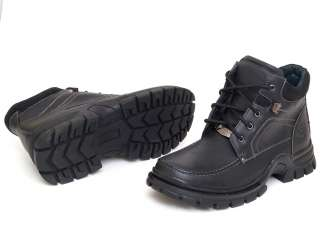 New Mens Leather Ankle Boots Casual Military Combat Style Work Lace