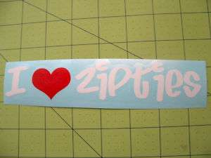 Love Zipties Decal Drift Import Funny JDM Sticker