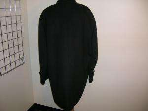 KENNETH COLE Black Wool/Angora Mid Length Coat L