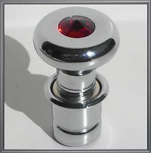 Automobile Cigarette Lighter w/ Red Swarovski Crystal Gem for Hotrod
