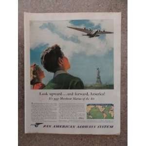 airways system , Vintage 40s full page print ad. (statue of liberty