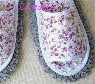 Dust Floor Cleaning Slippers Shoes Mop Women / Men