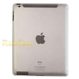 Clear iPad 2 TPU Gel Skin Case Work with Smart Cover