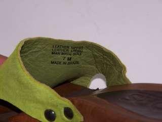 MICHAEL KORS MULES WOODEN CLOG LIME GREEN HAIR 7 M STUD