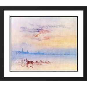 Turner, Joseph Mallord William 34x28 Framed and Double Matted Venice