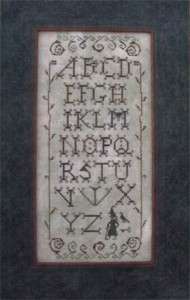 Wicked Alphabet Cross Stitch Pattern Primitive Needle 2