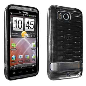 HTC Thunderbolt 6400 High Gloss Silicone Case Cover Black New OEM