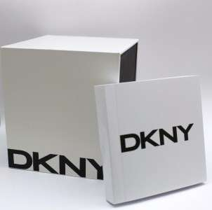 New DKNY Men Black Leather Dress Watch Date NY1443
