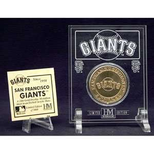 Highland Mint San Francisco Giants 24Kt Gold Coin In Archival Etched