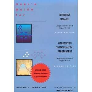 to Mathematical Programming (9780534520212) Wayne L. Winston Books