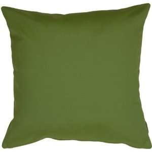 Pillow Decor   Sunbrella Palm Green Outdoor Pillow