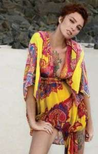Hale Bob Silk Caftan Cabana Swim Maxi Dress XS 2 4 NWT