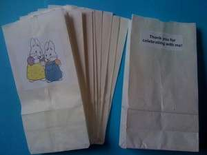12 Max and Ruby Party Favor Loot Bags