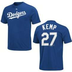 Los Angeles Dodgers Matt Kemp Name and Number Blue Jersey T Shirt