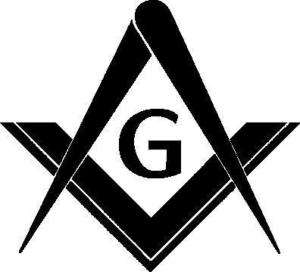 Masonic Square and Compass Sticker Decal Vinyl