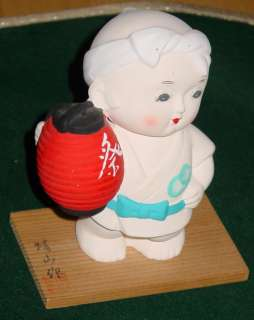 Japanese karate martial arts boy clay statue figurine