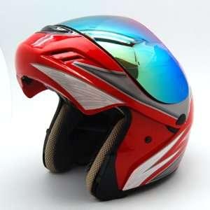 Motorcycle Street Bike Modular Filp up Full Face Adult