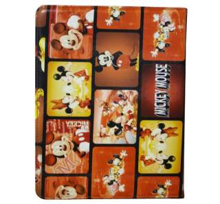 Smart Leather case cover W/Swivel Mickey Mouse for iPad 2 O