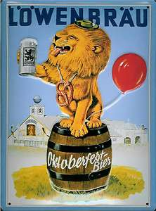 LOWENBRAU LION VINTAGE STYLE METAL SIGN