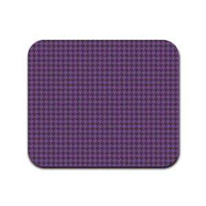 Houndstooth Pattern   Purple and Black Mousepad Mouse Pad